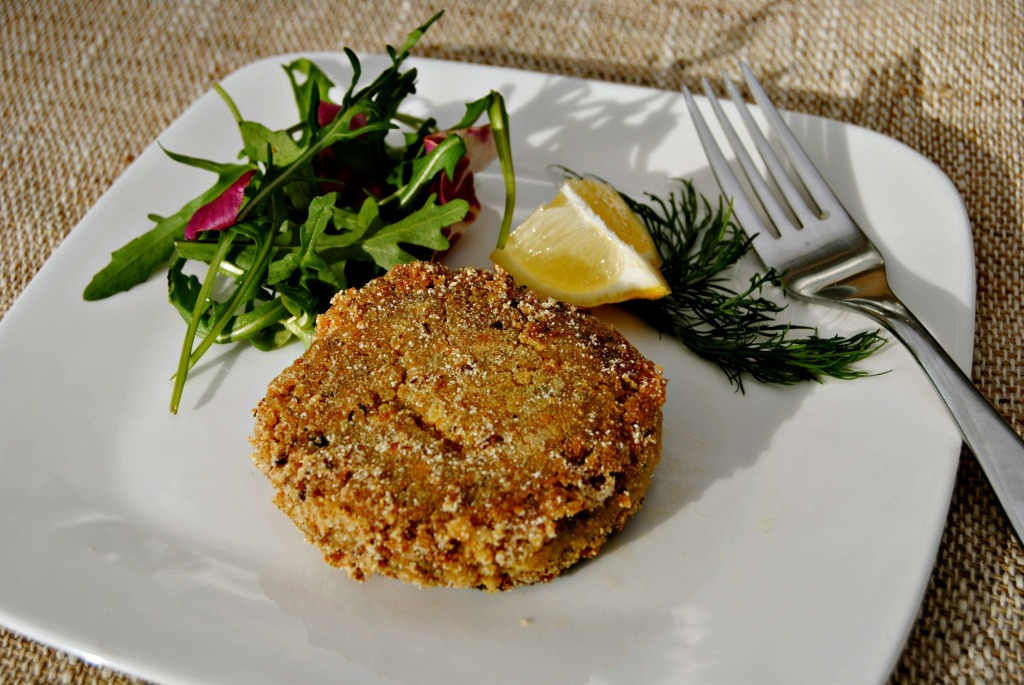 quinoa and smoked mackerel fishcakes (2011)