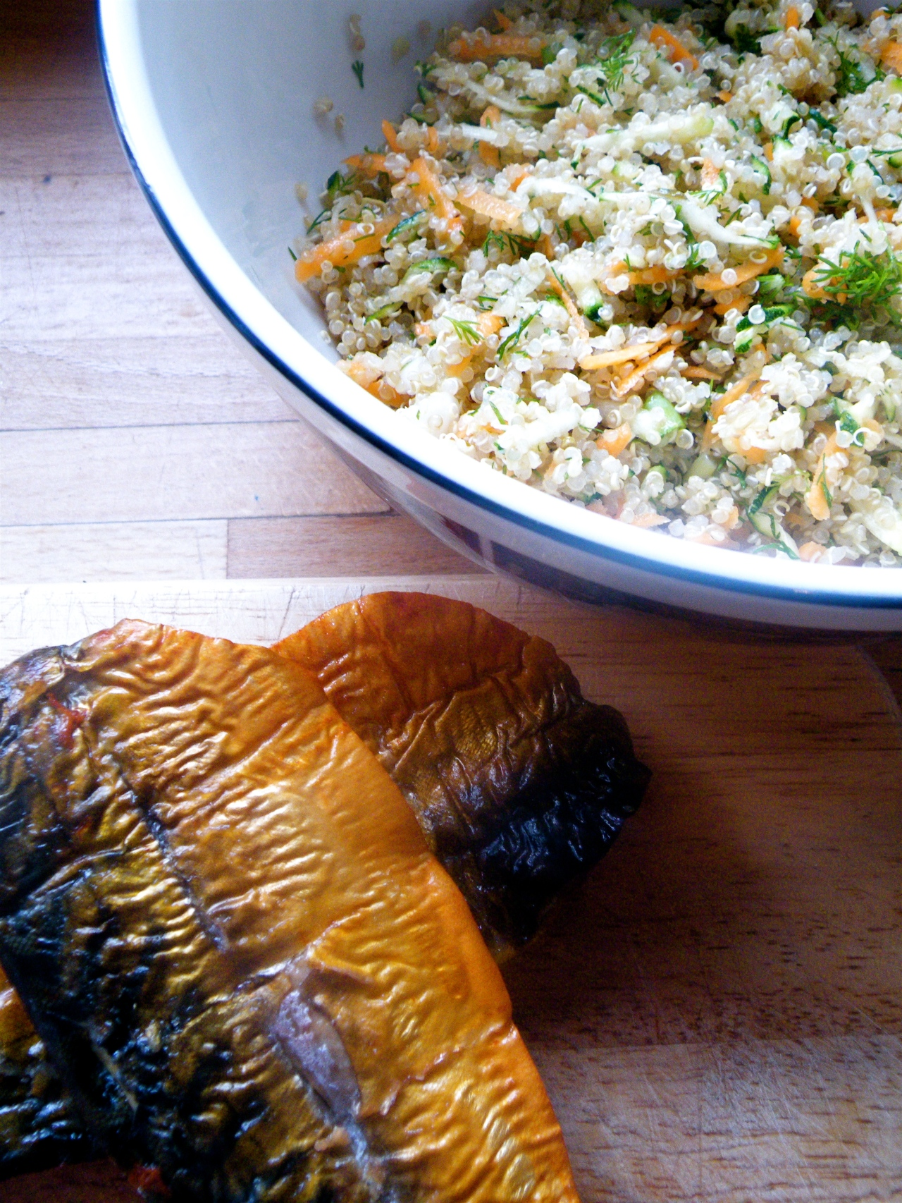 smoked mackerel and bowl quinoa