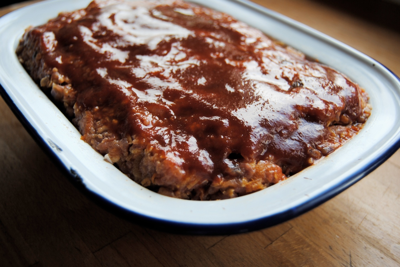 uncooked turkey meatloaf in pan