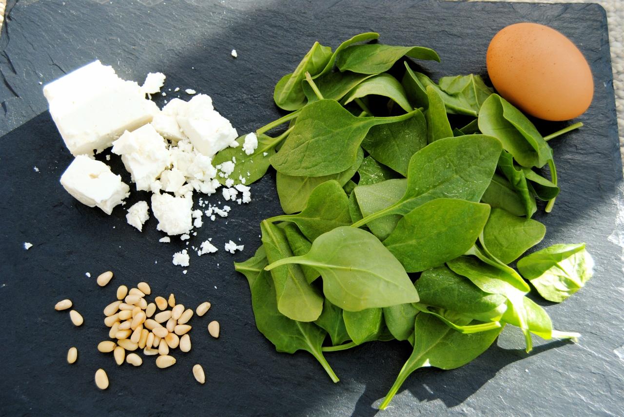 spinach pie ingredients