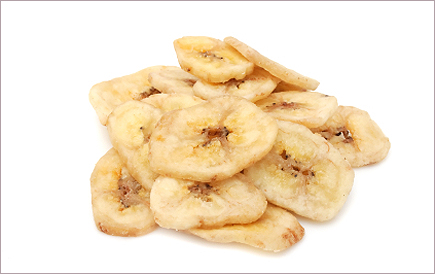 banana chips - as much fat as potato chips!