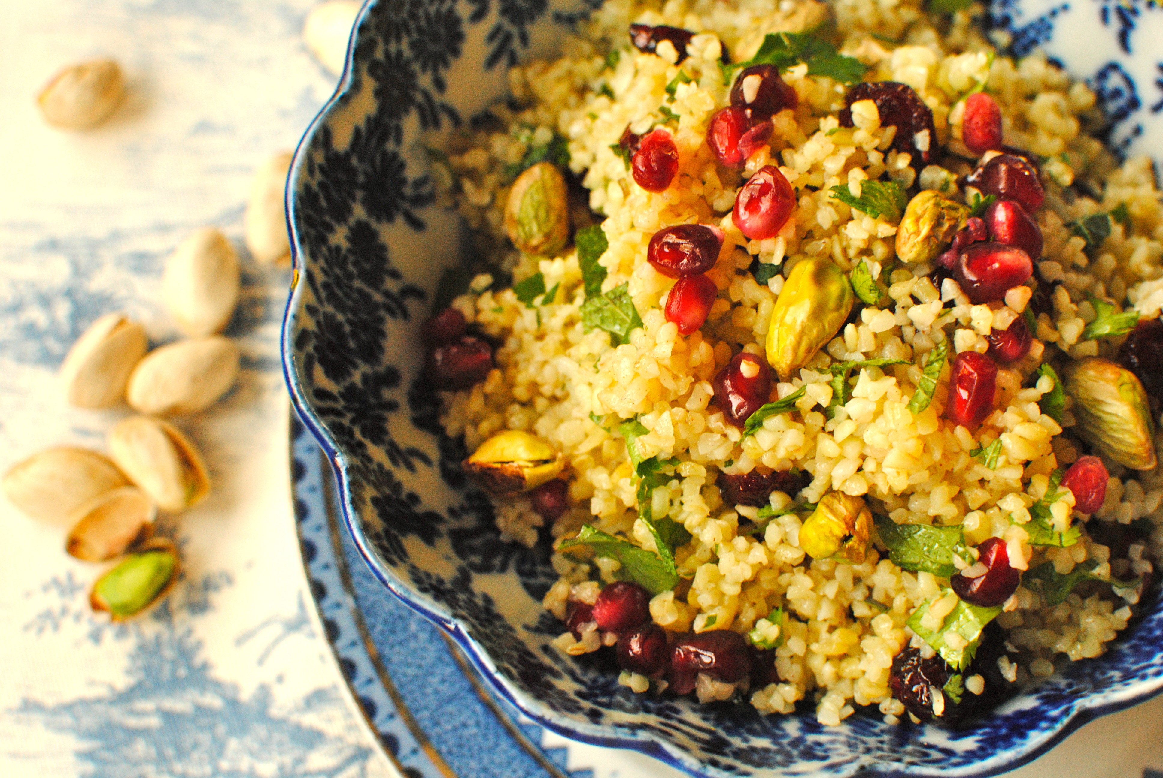 Pomegranate, Pistachio and Sour Cherry Bulgur Wheat Salad ...