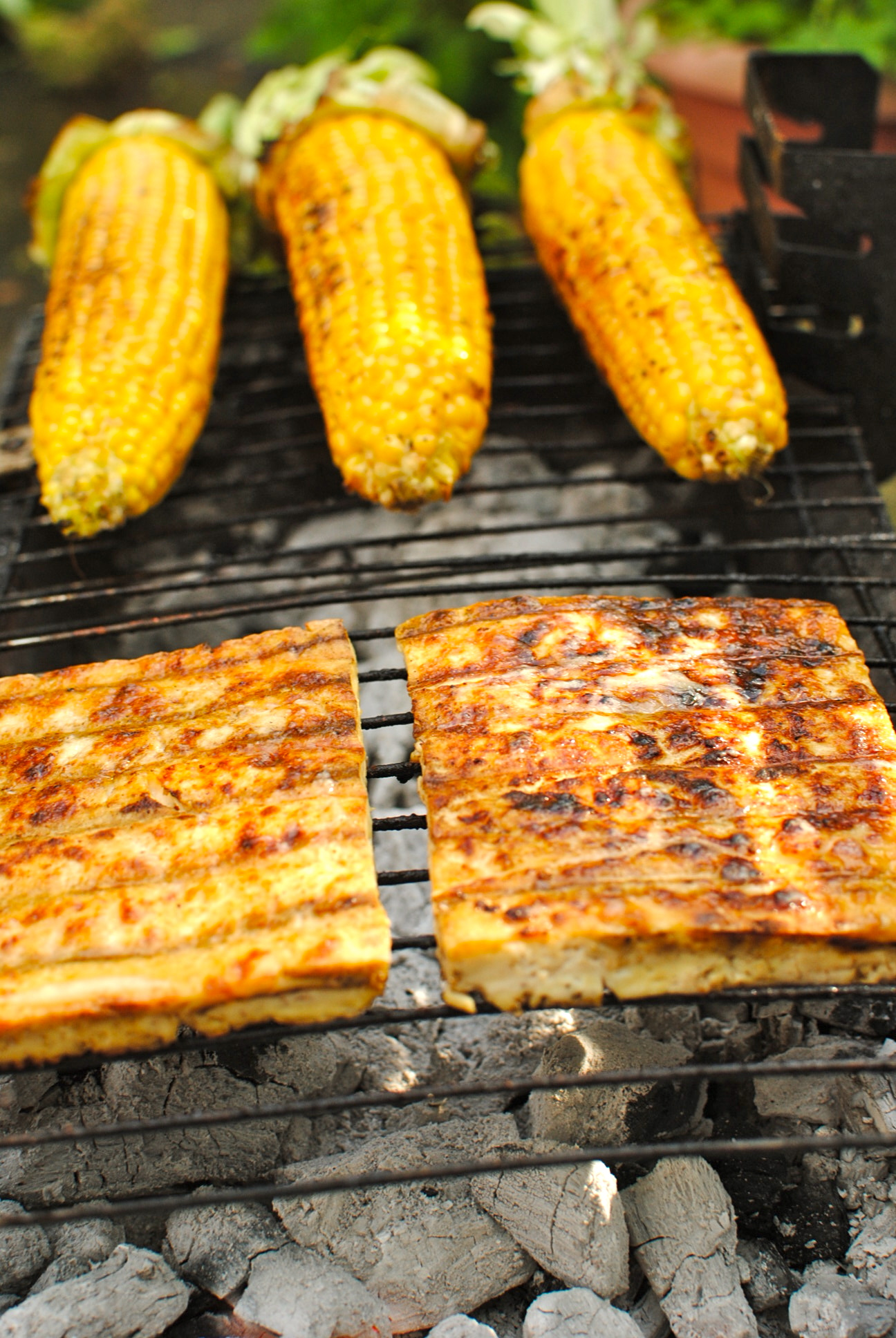 Grilled Miso-Butter Corn and Tofu – A Vegan BBQ | food to glow