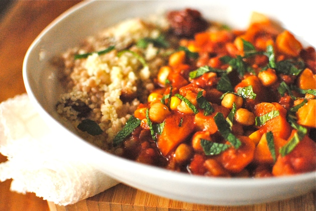 tunisian-style chickpea and vegetable couscous