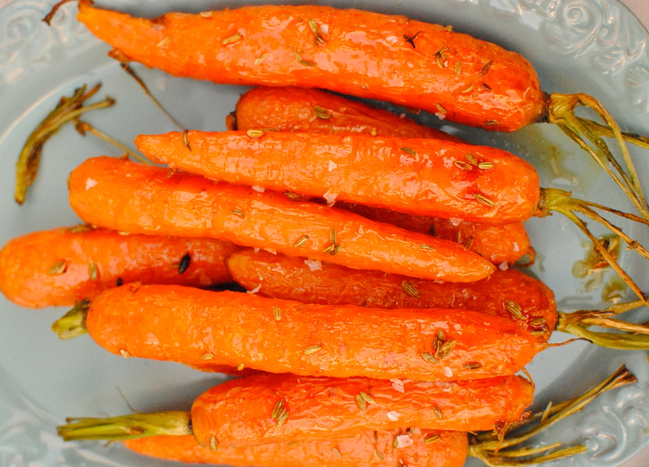 maple roasted carrots