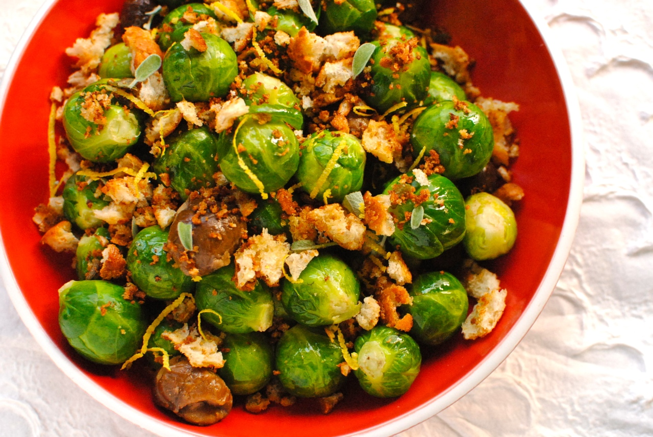 brussels sprouts with crispy sage crumbs