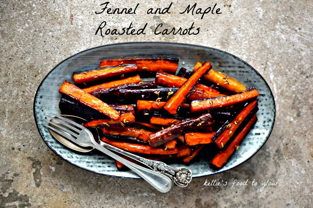 Holiday side dish heaven > maple and fennel roasted carrots