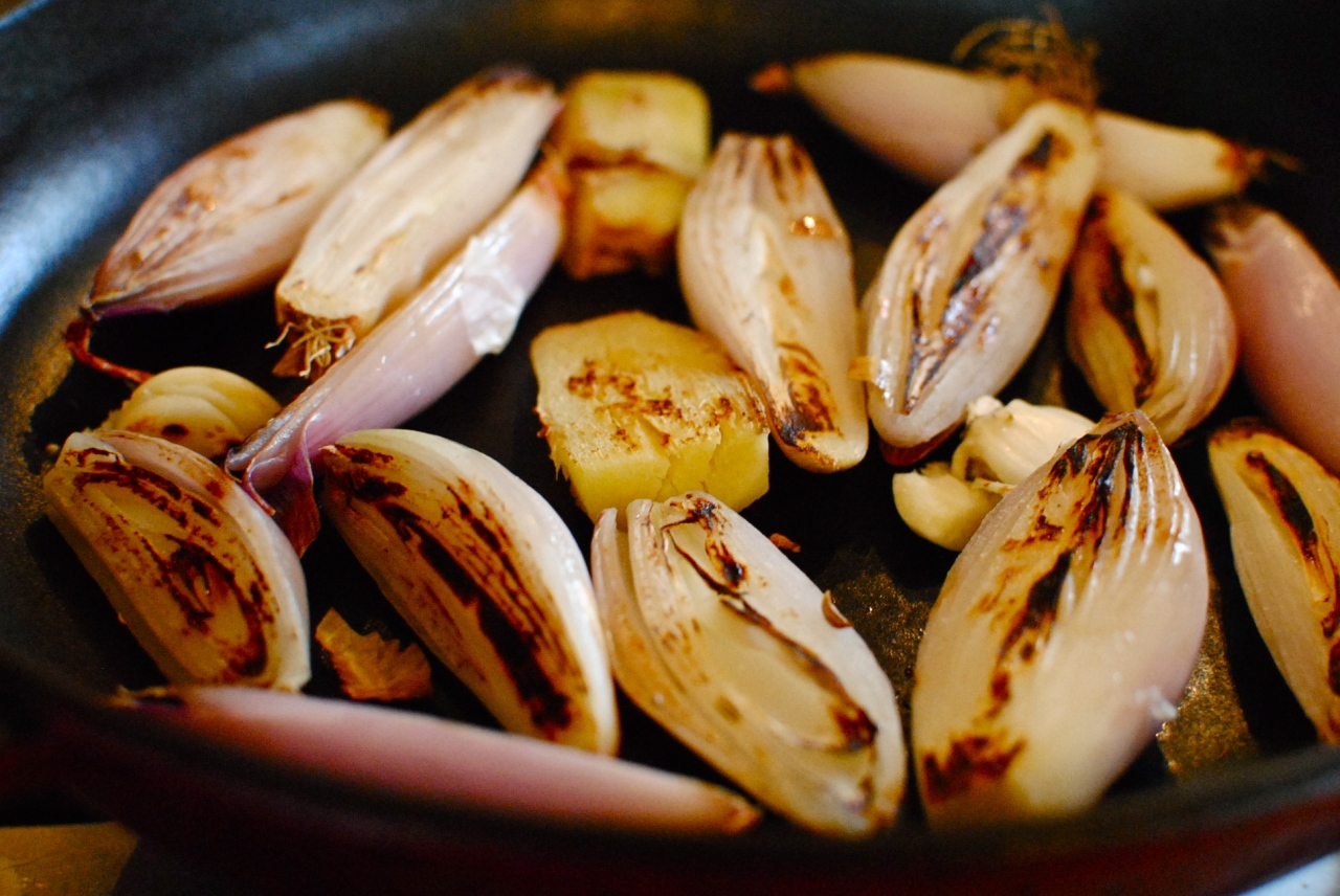 searing veg for asian broth