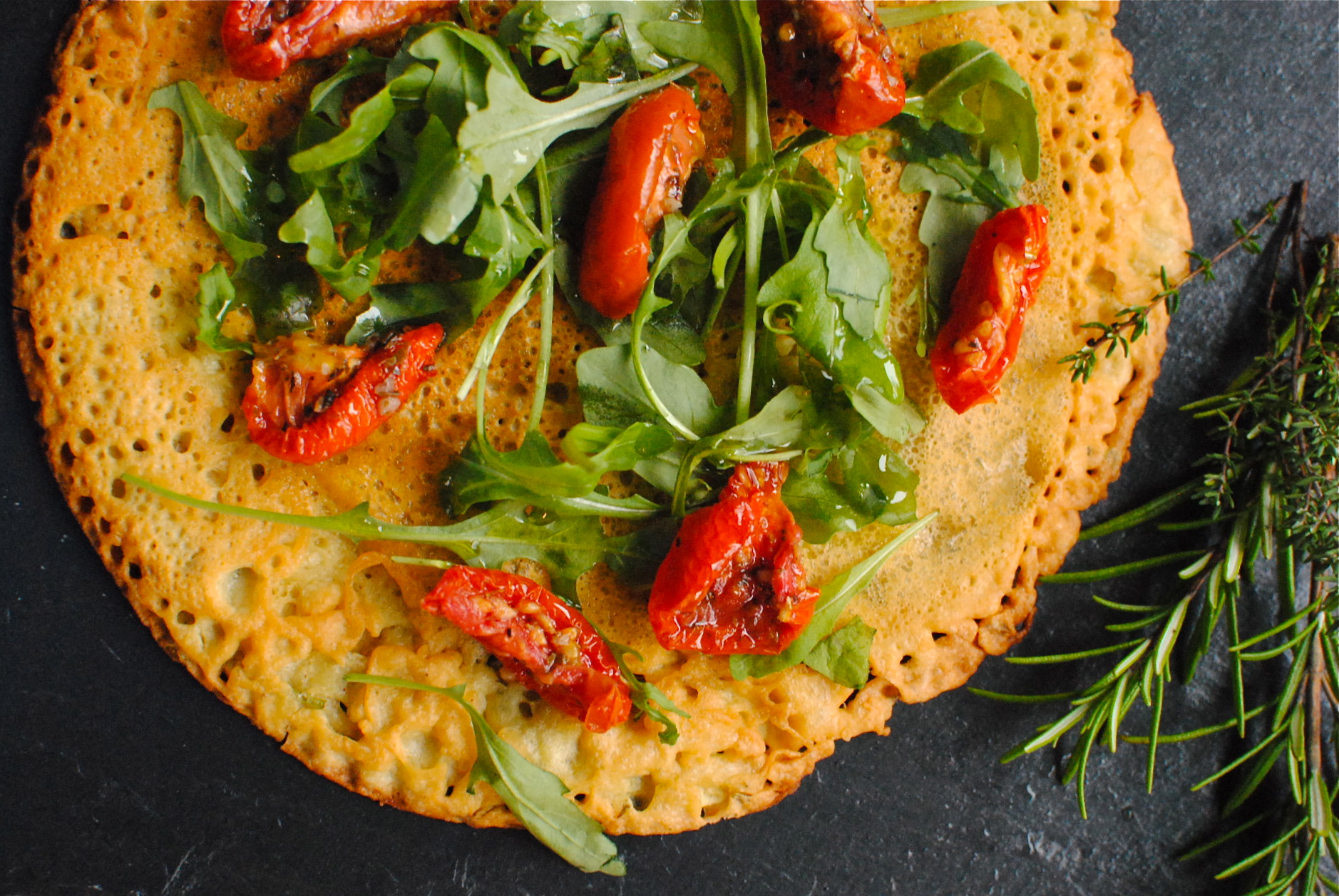rosemary and thyme chickpea pancakes socca de nice food to glow. Black Bedroom Furniture Sets. Home Design Ideas