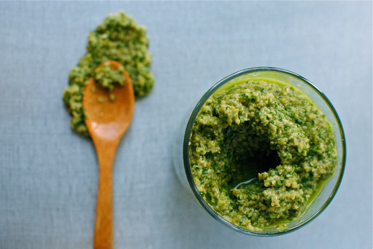 green olive and coriander tapenade