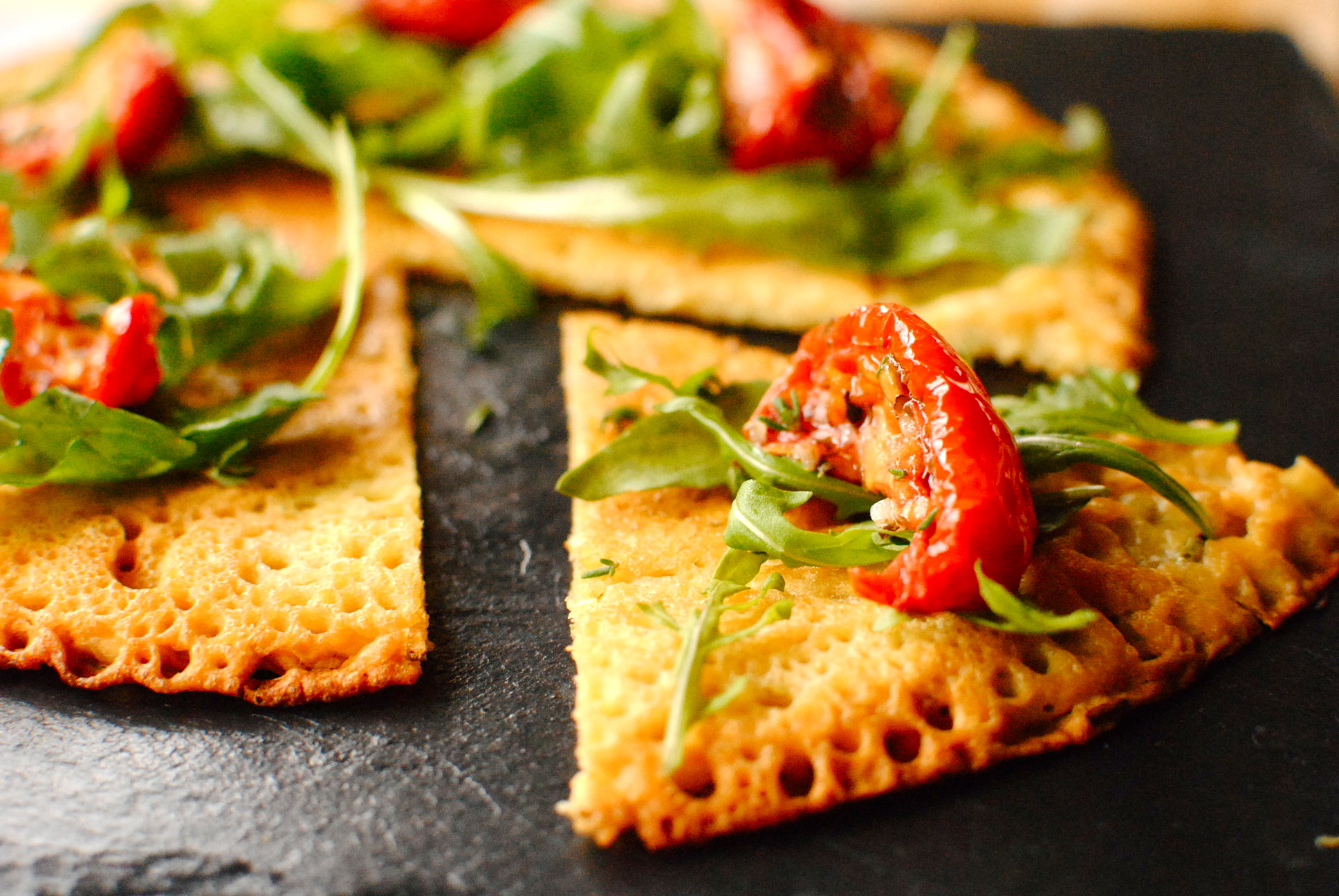 Rosemary and Thyme Chickpea Pancakes (Socca de Nice) | food to glow