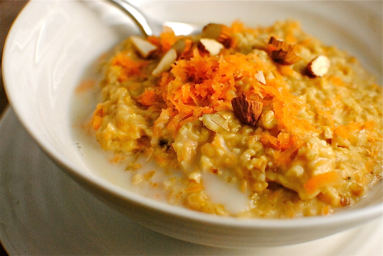 date-sweetened carrot & almond porridge