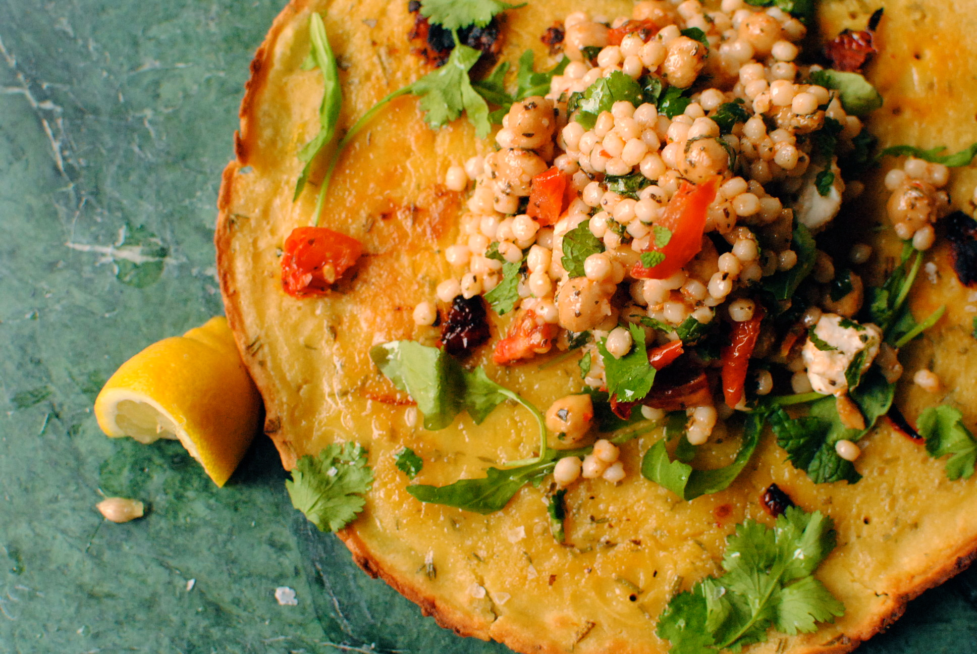Rosemary and Thyme Chickpea Pancakes (Socca de Nice)   food to glow