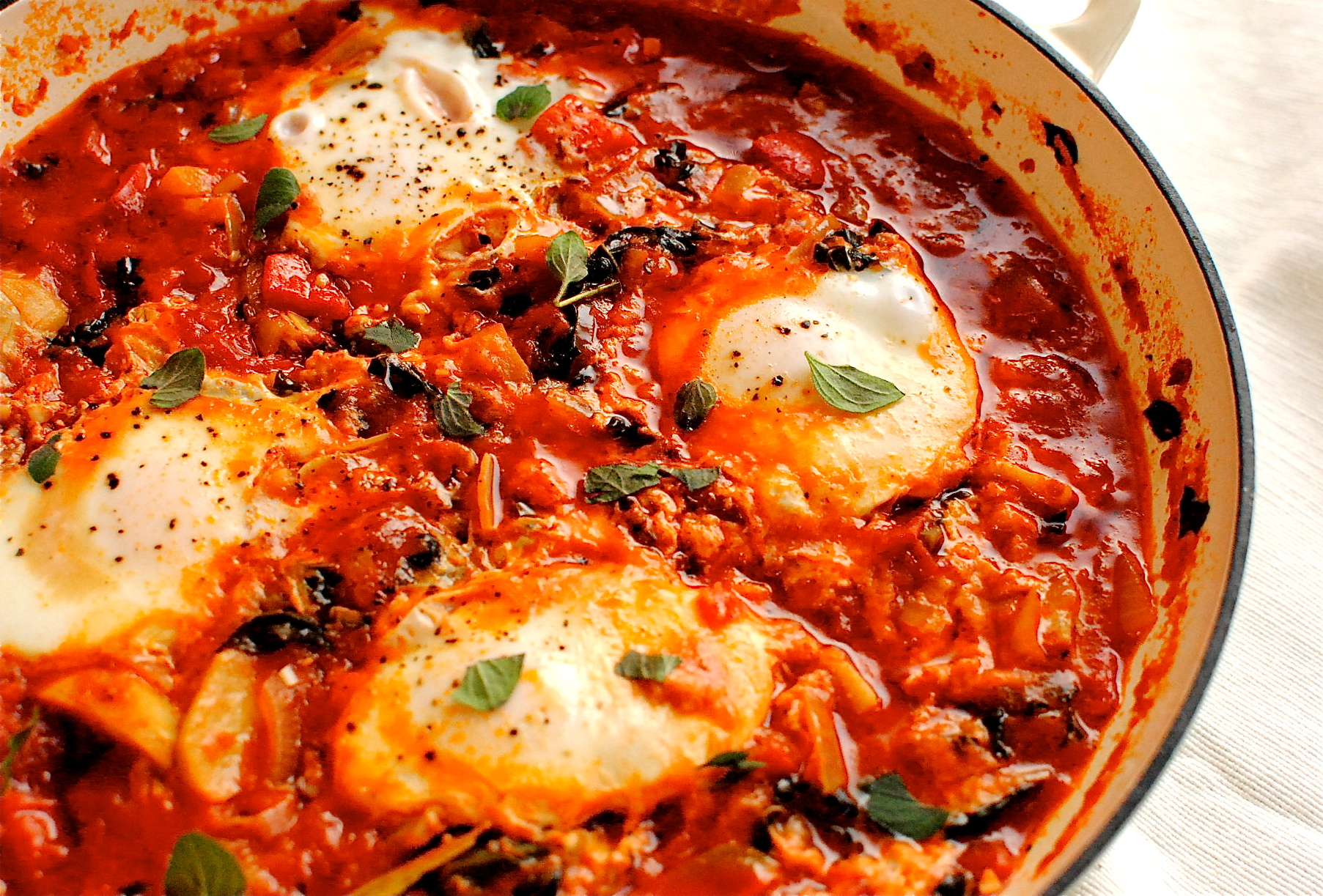 Easy Shakshuka (Spiced North African Tomato and Eggs) | food to glow
