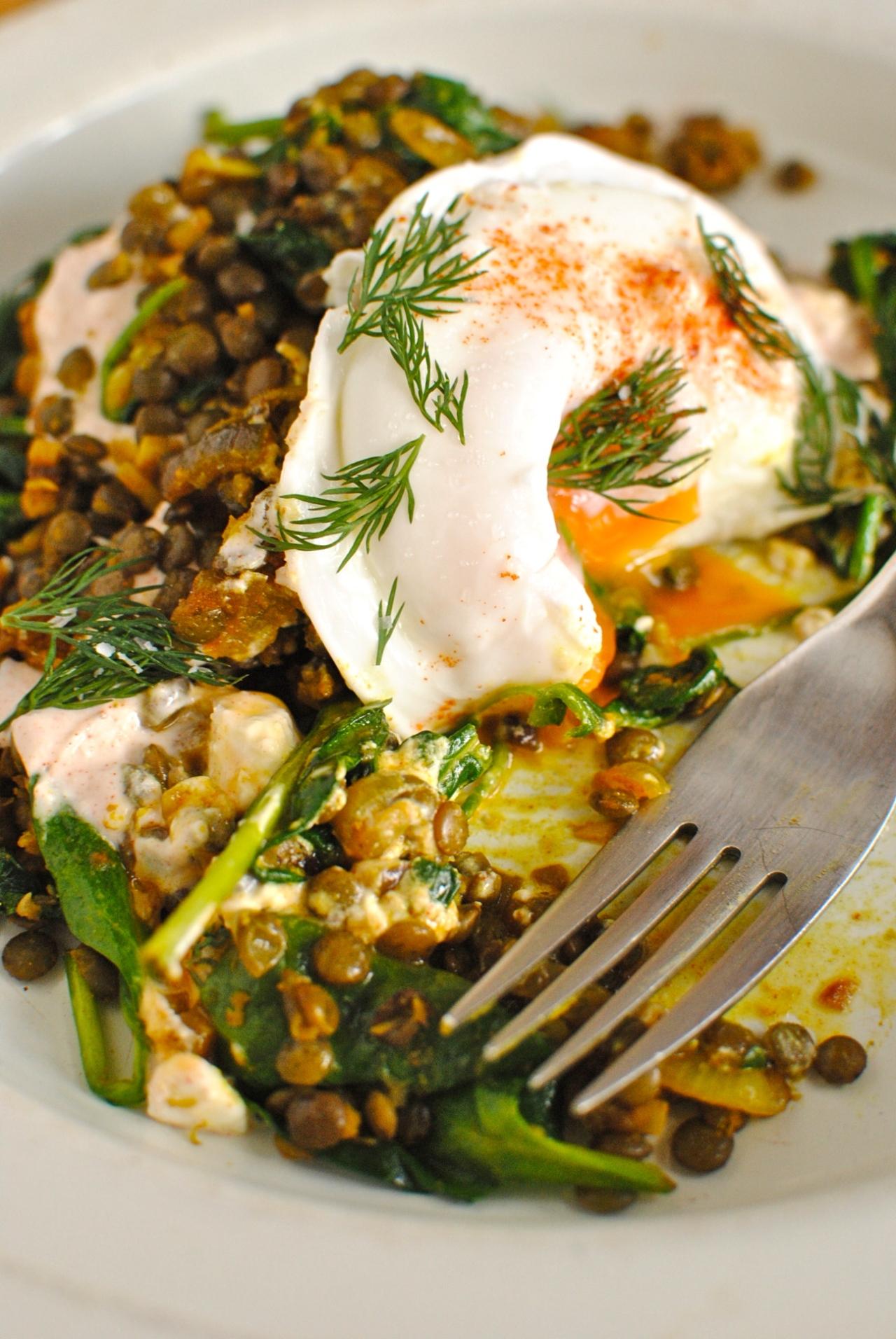 eggs, lentils yogurt