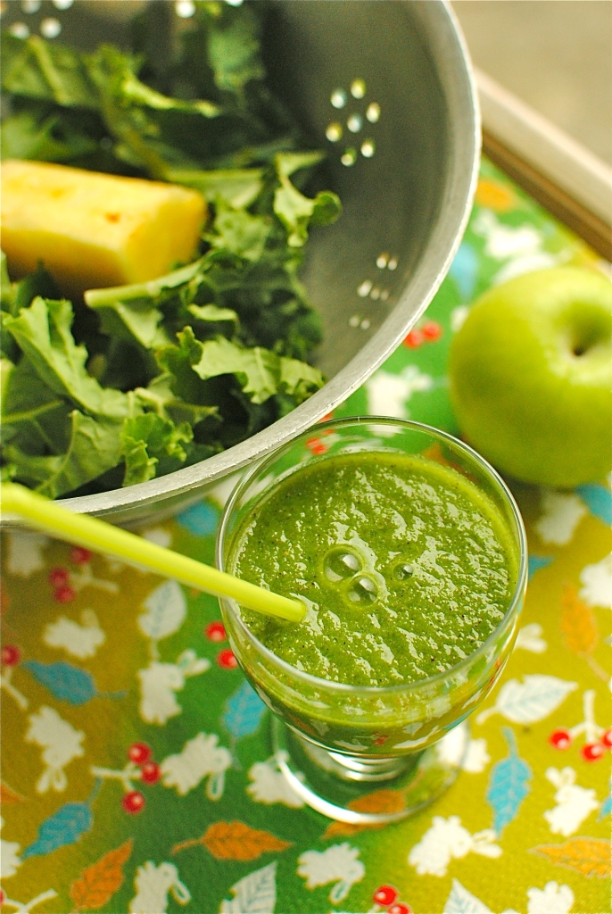 green tea and kale smoothie