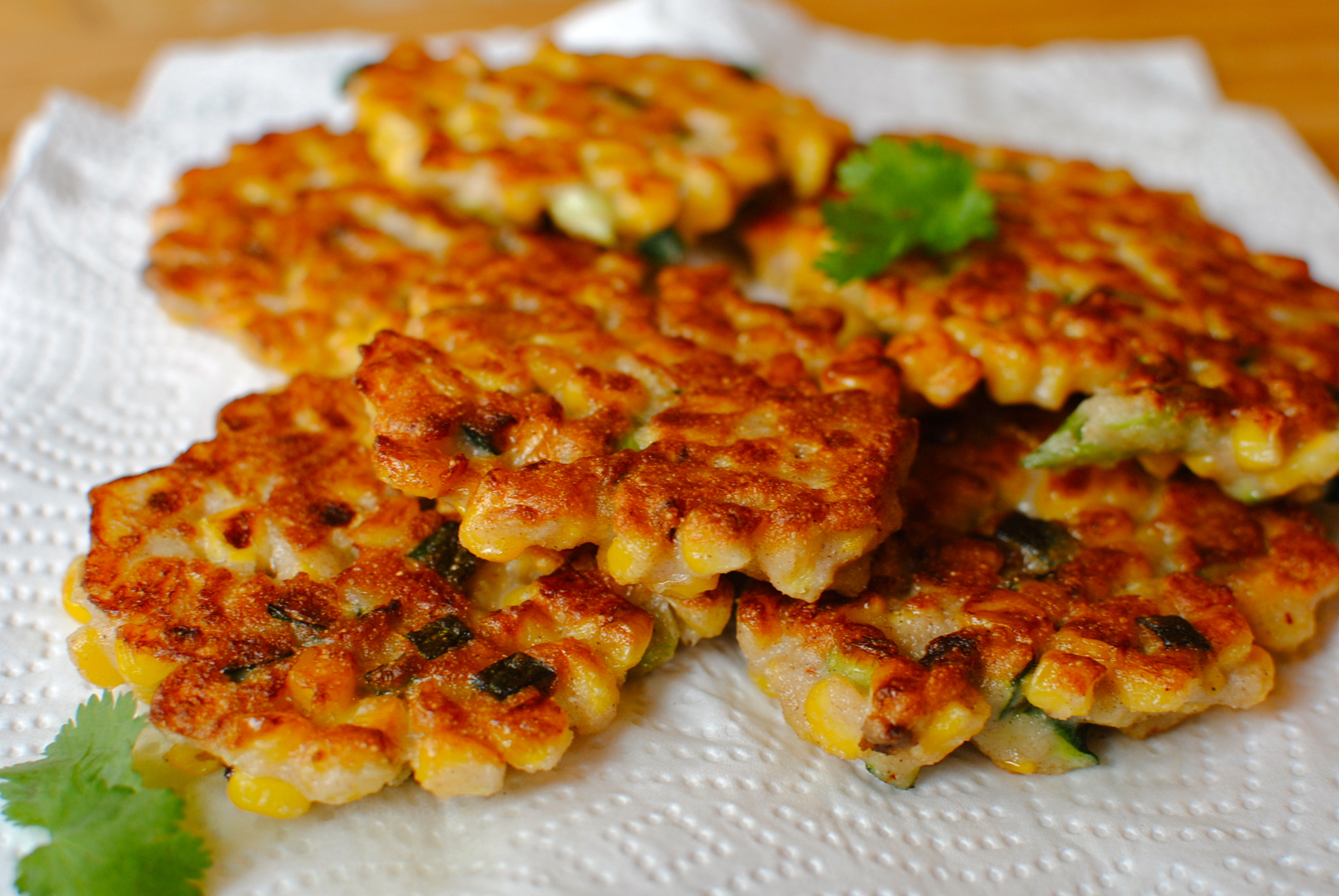 Smoky Double Corn Fritters With Guacamole A Savoury