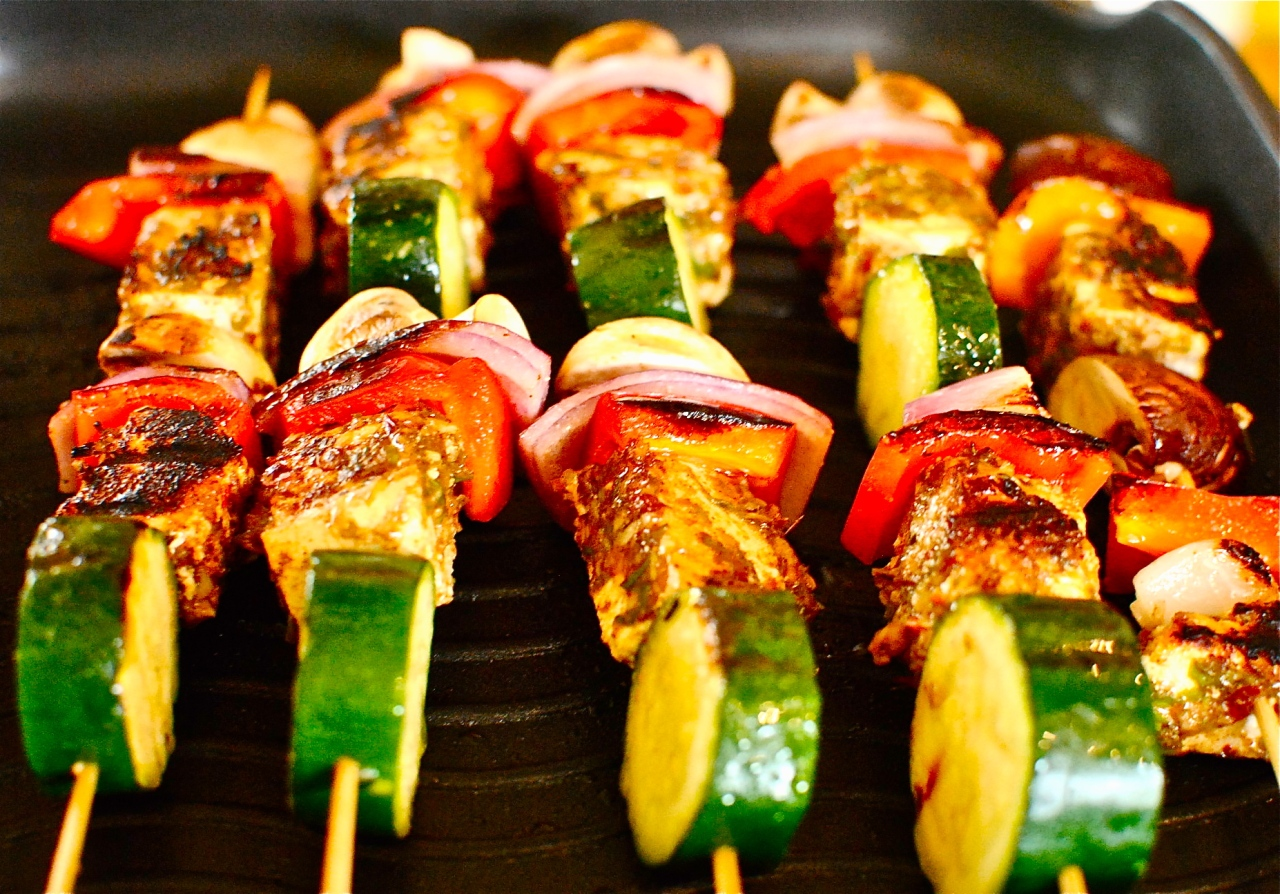 paneer & vegetable kebabs
