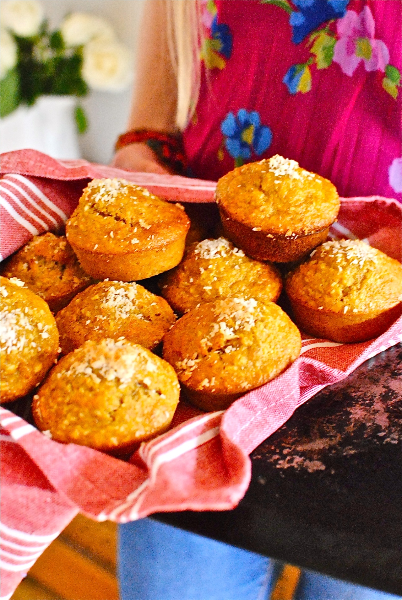 carrot and coconut muffins