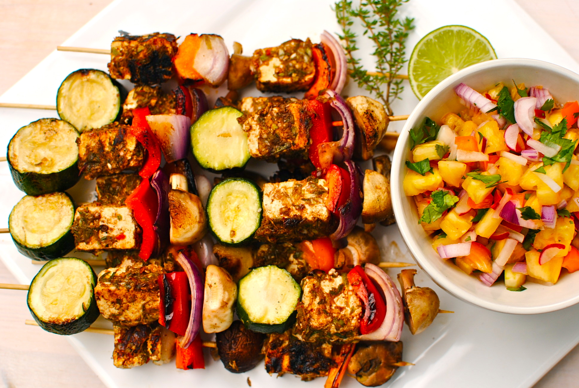 To Make Jerk Marinade + Jerk Paneer Vegetable Kebabs with Pineapple ...