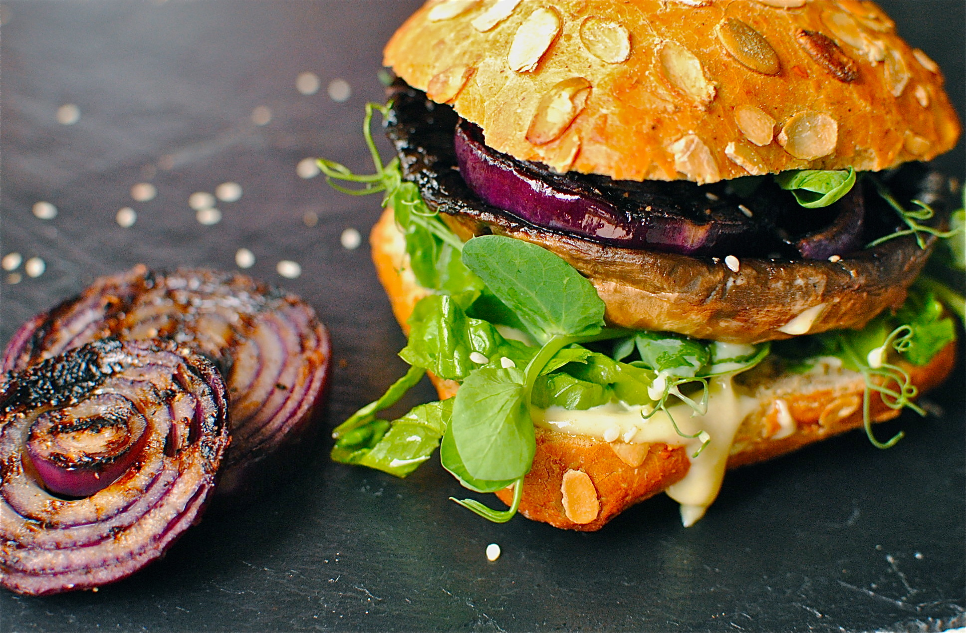 Juicy Teriyaki Portobello Mushroom Burgers With Homemade