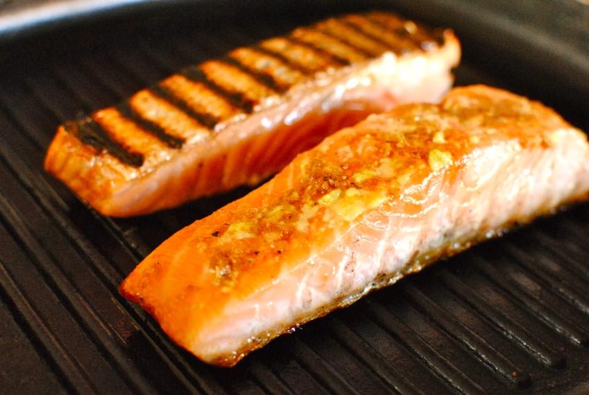 griddled salmon teriyaki