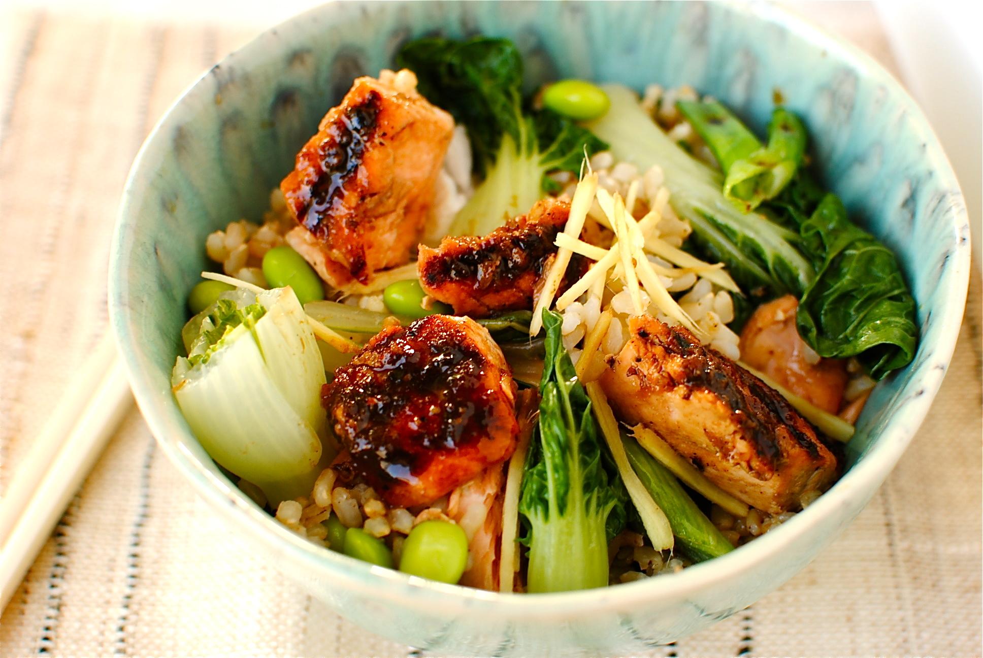Teriyaki Salmon Rice Bowl