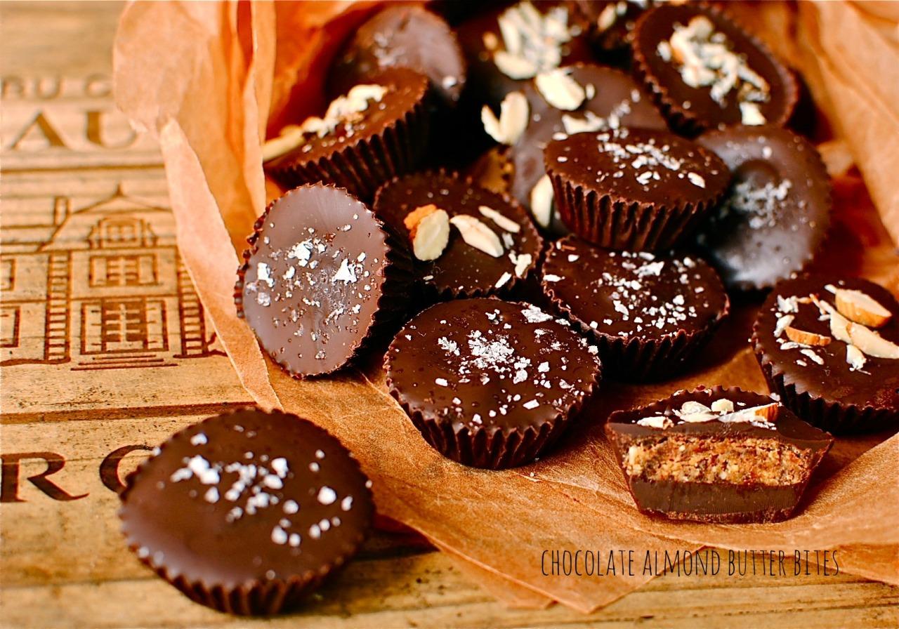 chocolate almond butter bites