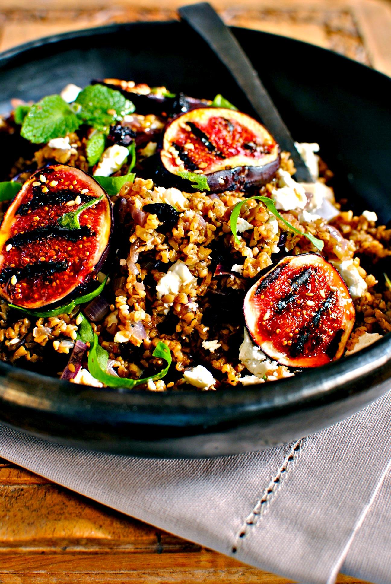 Lebanese freekeh and fig salad freekehing fabulous food to glow lebanese freekeh and fig salad forumfinder Choice Image