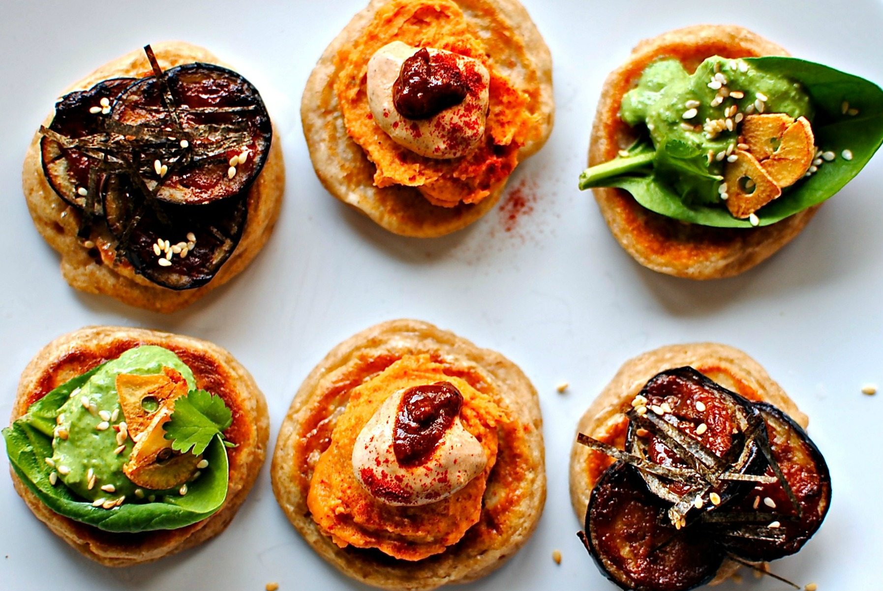 a trio of blinis for new year s eve food to glow. Black Bedroom Furniture Sets. Home Design Ideas