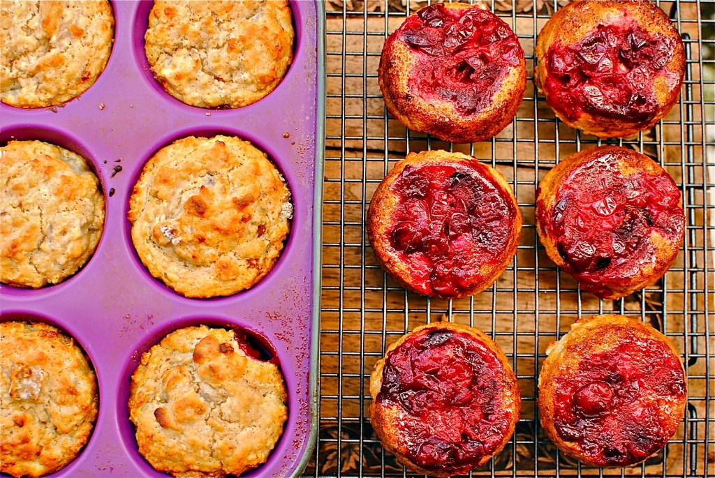 cranberry-and-pear-upside-down-muffins