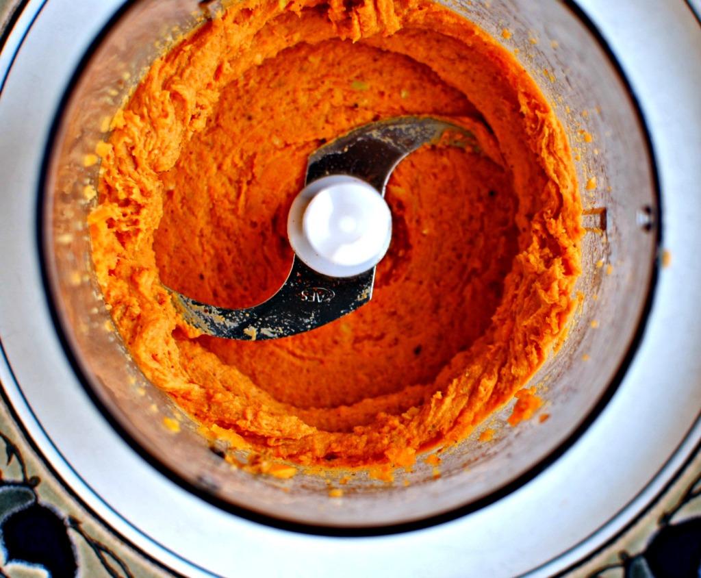 sweet potato and almond puree