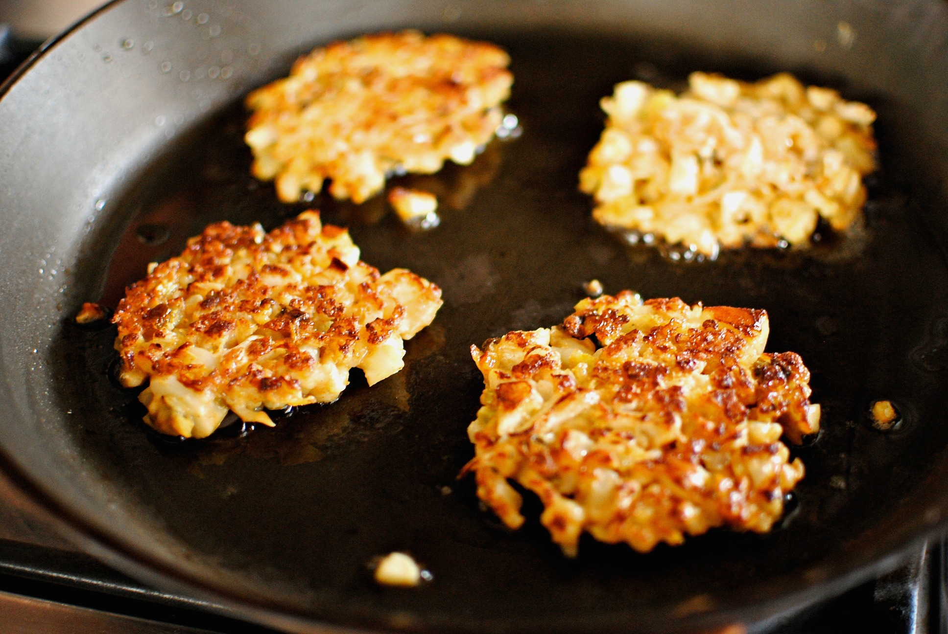 Pan-fried Creole Cauliflower Fritters | food to glow