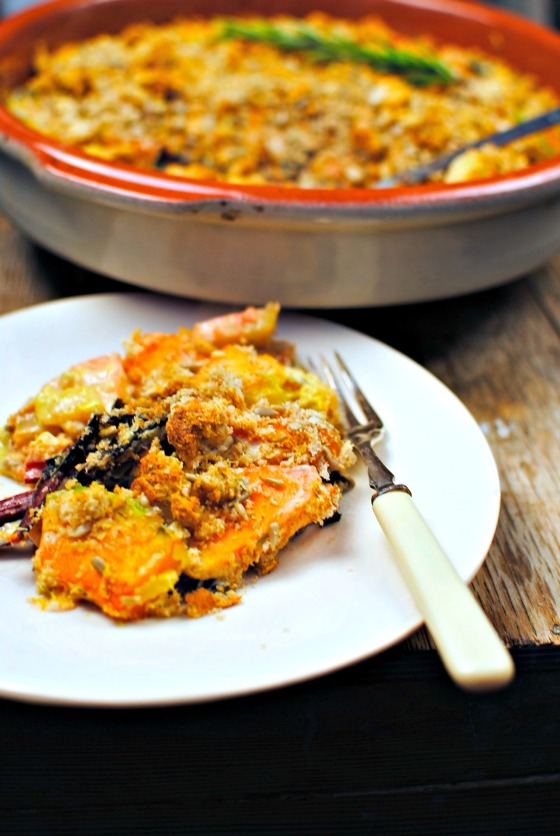 vegan winter vegetable gratin