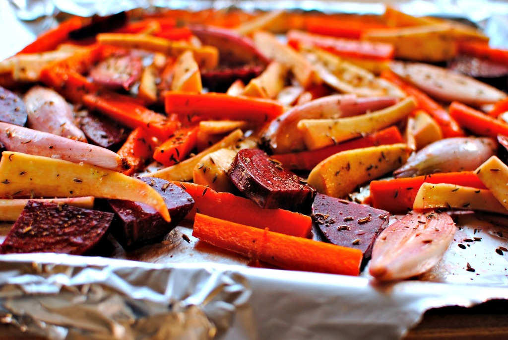 raw vegetables to roast