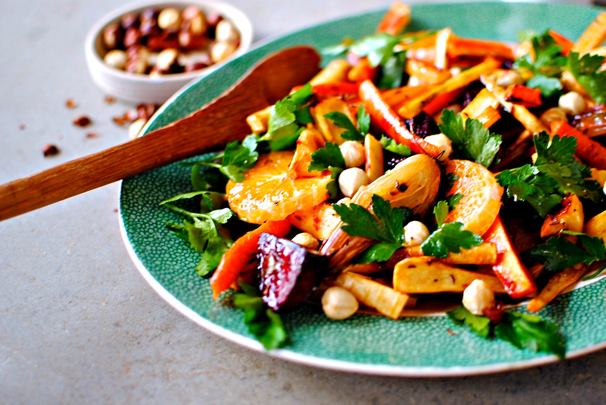 Citrus and Roasted Winter Vegetable Salad with Pomegranate Dressing ...