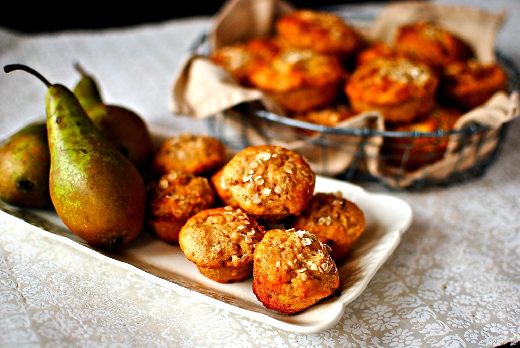 parsnip and pear muffins