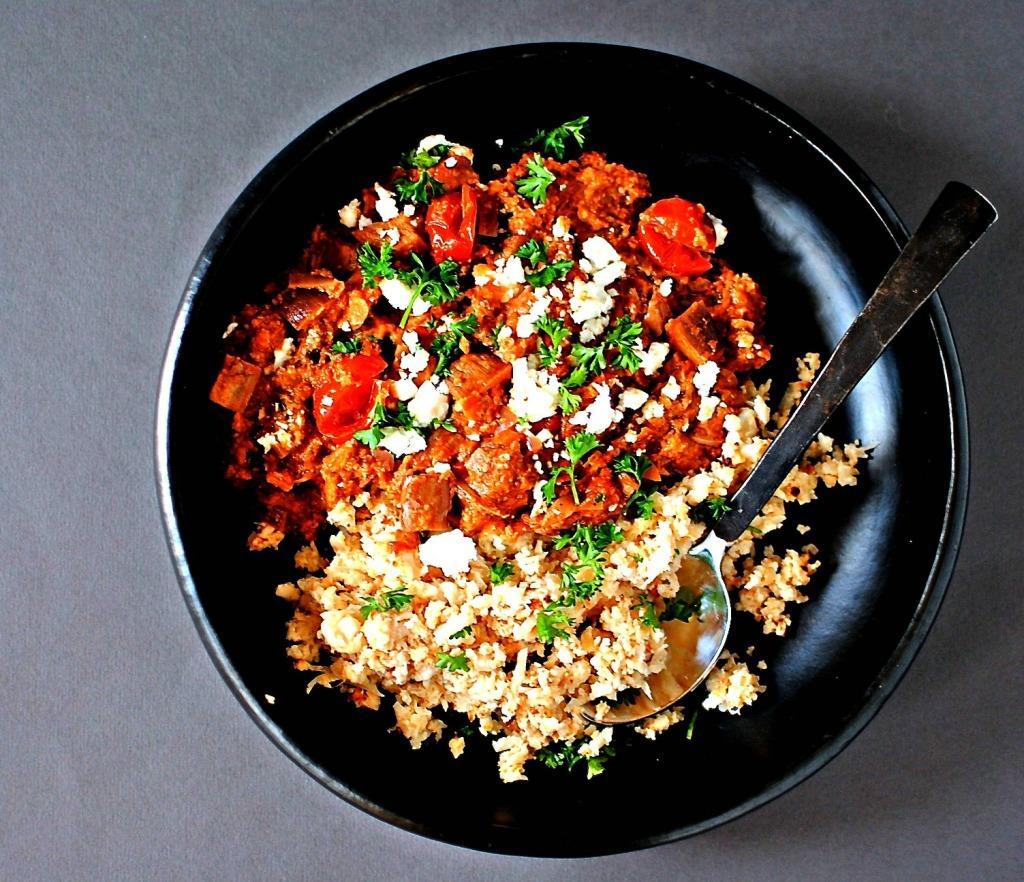 syrian eggplant and walnut stew