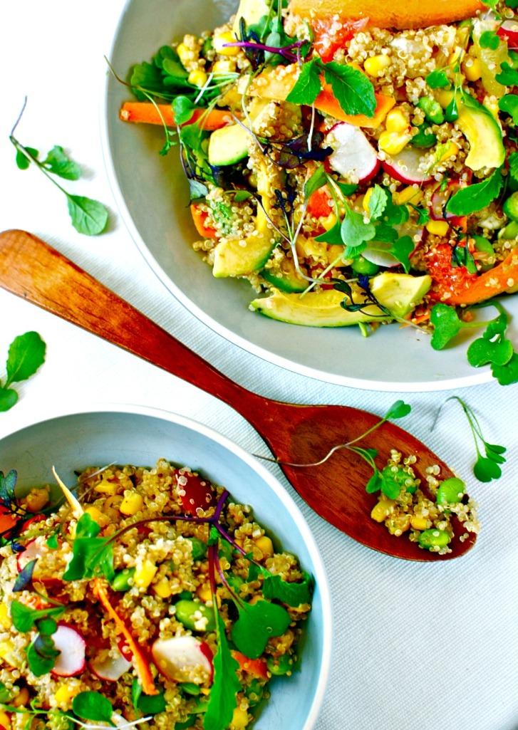 Quinoa Bowl with Citrus, Avocado and Edamame