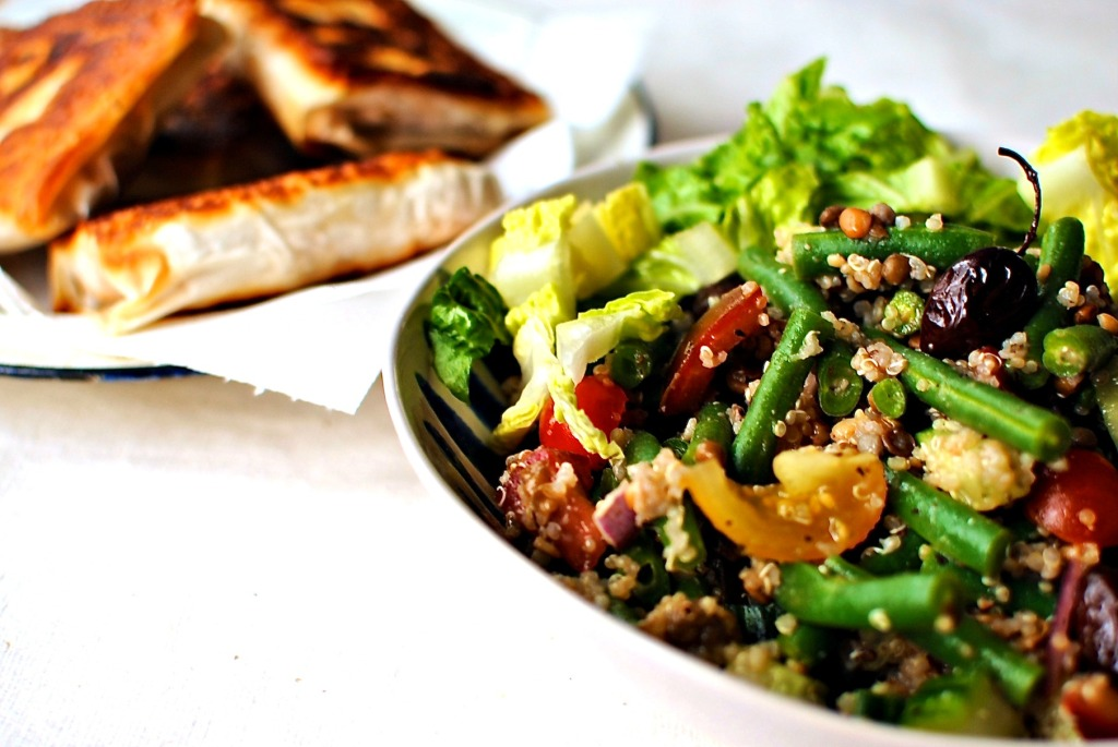 greek lentil and quinoa salad
