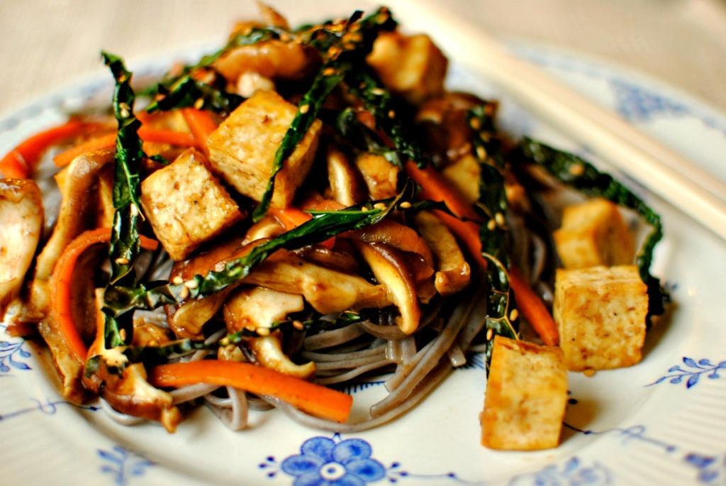 Tamarind and Shiitake Tofu with Sesame Seaweed