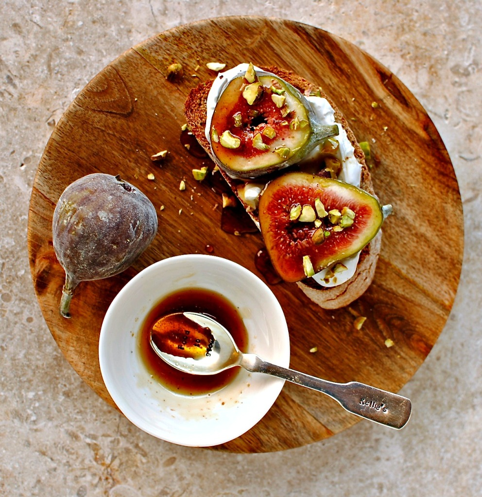 fig and labneh tartine