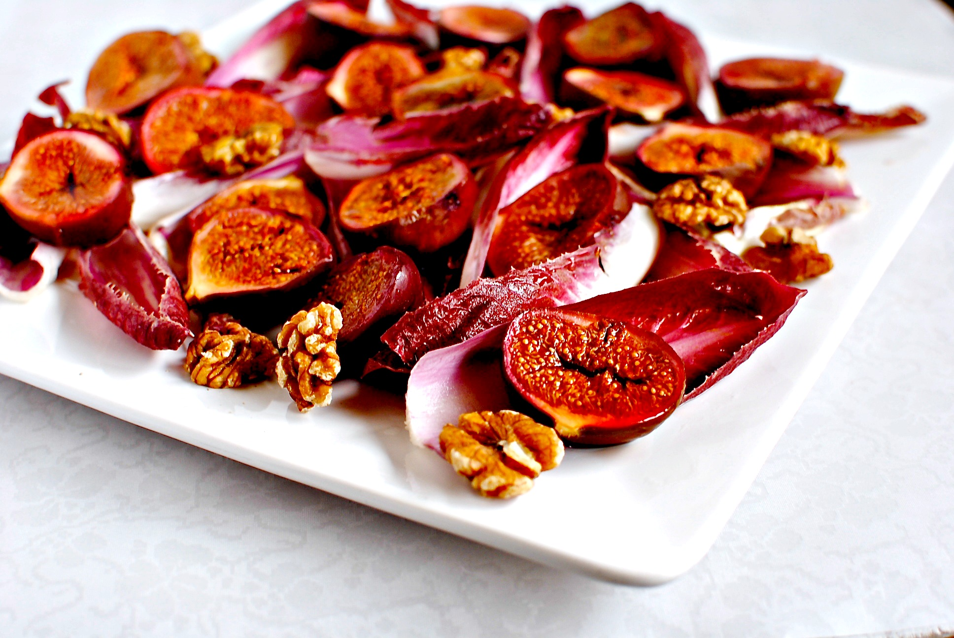 Balsamic and Date Syrup Roasted Figs + Roasted Fig, Chicory and Walnut ...