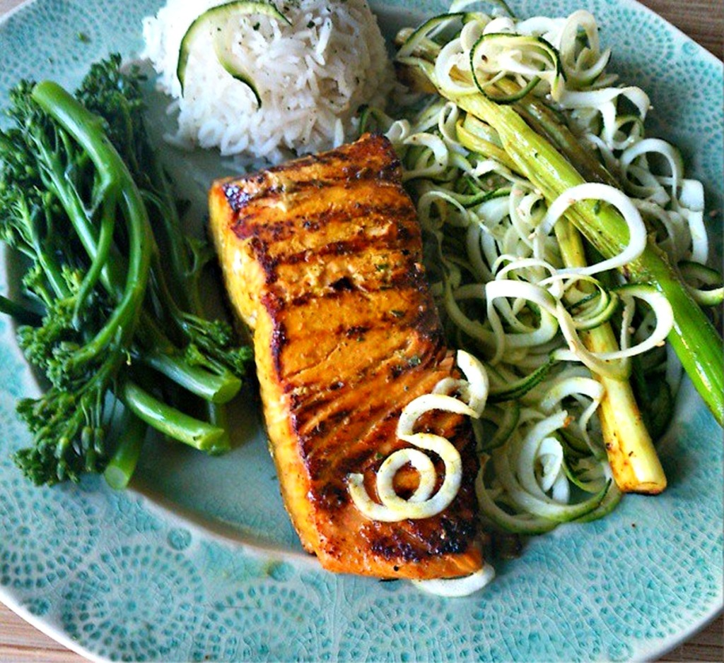 turmeric and lime salmon