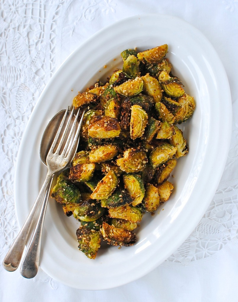Maple Dijon Roasted Brussels Sprouts Recipe — Dishmaps