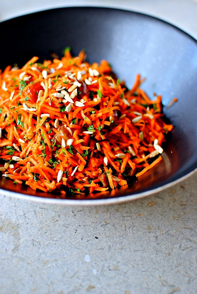 moroccan carrot salad // food to glow