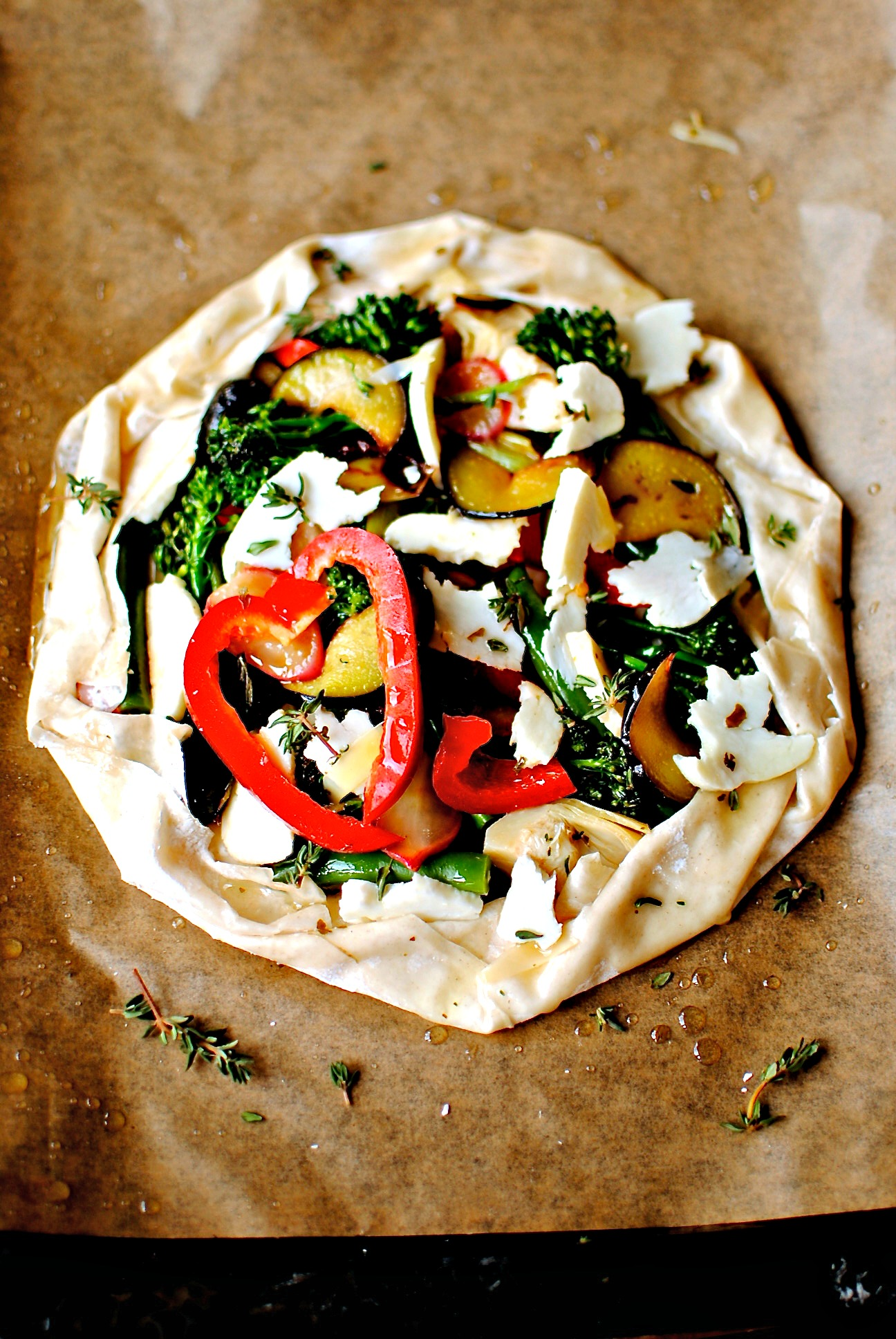 Easy Mediterranean Vegetable and Halloumi Galette | food ...