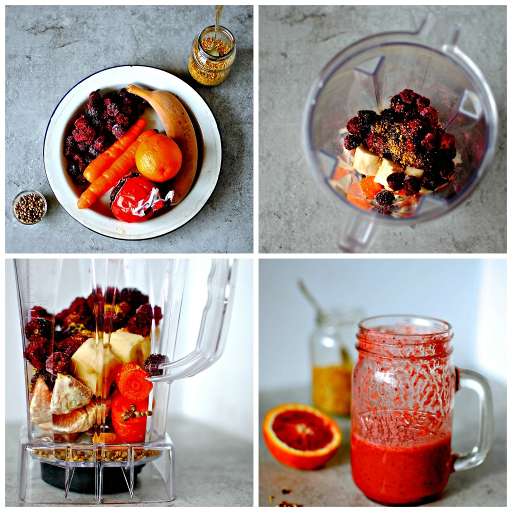 blood-orange-berry-smoothie // food to glow