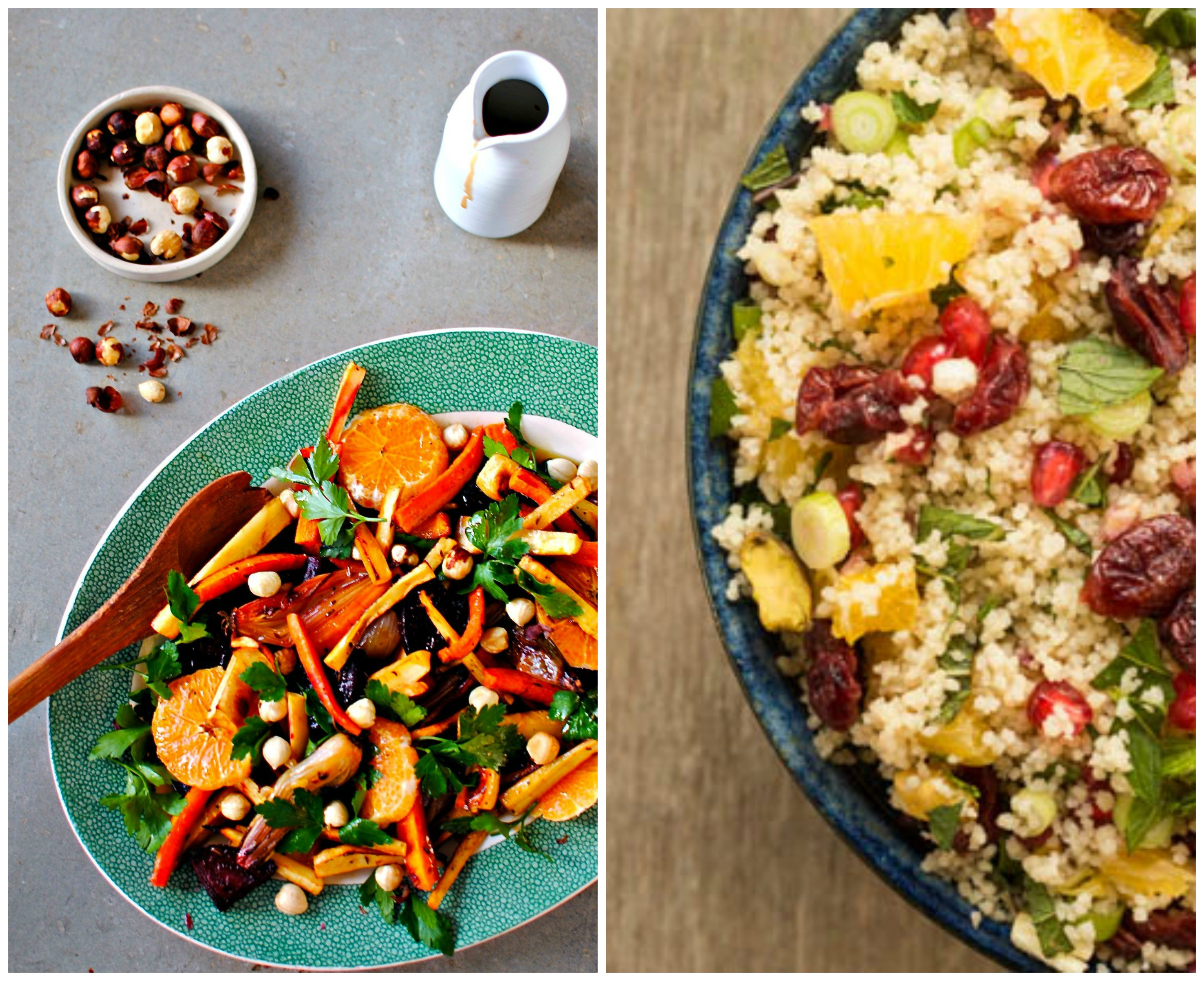 And a lovely Orange, Pistachio and Pomegranate Couscous Salad from ...