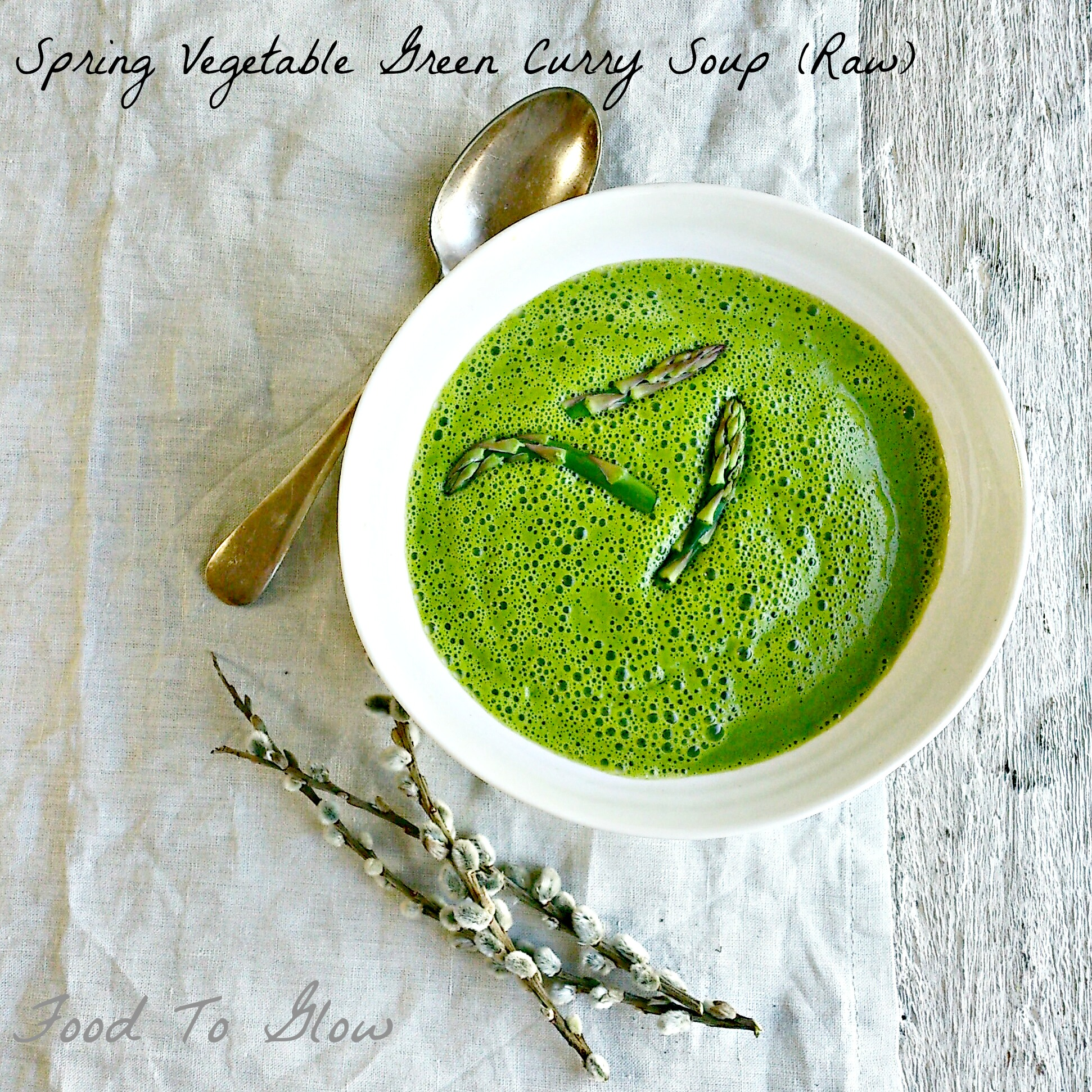 Spring vegetable green curry soup raw food to glow raw spring vegetable green curry soup by food to glow forumfinder Gallery